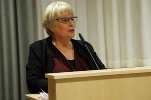 På måndagen tog fullmäktigeordförande Marit Holmstrand (S) plats i talarstolen, och berättade om demokratins hundraårsjubileum.