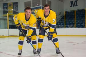 Bröderna i Merrick Colleges matchställ. Det blev tre säsonger tillsammans.