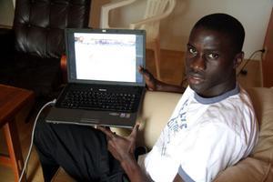 Handelsresande i fotboll. Men Yankuba Ceesay hoppas att resan slutar i spanska ligan.