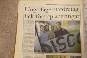 1996. 1996 vann Discoexpressen pris för bästa tjänst och företagspresentation i länet. Anna Möller, Per Danielsson, Annelie Eriksson, Annica Westerberg och Ulrika Karlsson ingick där.