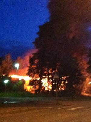 Brand på Ekebergaskolan runt 1:30