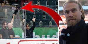 Lindquist vill se att plexiglasen förändras i våra hockeyarenor. Foto: Björn Rosvall/TT.