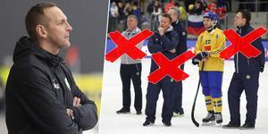 Michael Carlssons stab är en helt annan än den Svenne Olsson hade runt sig i VM i Vänersborg förra säsongen. Bild: TT