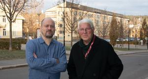 Hannes Dükler och Ingemar Westlund berättade på Svenska Deckarfestivalen om boken