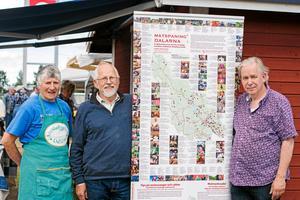 Olle Bengtsson, till höger, ser samarbetet mellan skördefesten, kommunerna i södra Dalarna och konsumenterna somoerhört viktigt.Foto: Jennie Börs