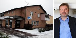 Arbetsförmedlingens kontor i Leksand var ett av åtta som fick ett nedläggningsbeslut i maj. Nu kan det bli kvar. Montagefoto: Mats Laggar