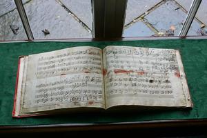 Handskrivna noter av Beethoven. Foto: George Widman/TT