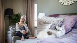 Lyxigt hemtrevligt är känslan hemma hos Sandra Andersson.