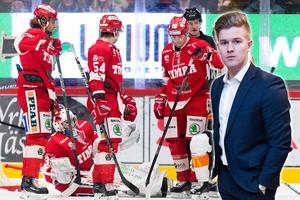 Hockeypuls redaktör Adam Johansson diskuterar varför Timrå fortfarande är storebror i det här kvalet. Foto: Bildbyrån.