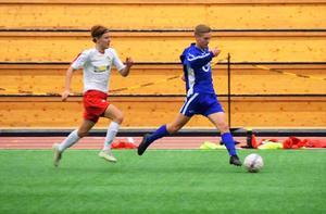 Alex Ölund under gruppspelet i Luleå.  Bild: Privat