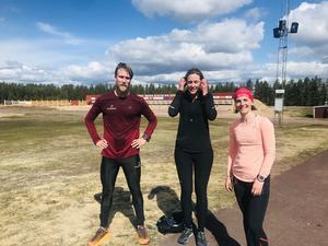 Topptrion på 17 km. Gustav Karnebäck, Malin Forsberg och Evgeniya Ryapolova. Foto: KEA
