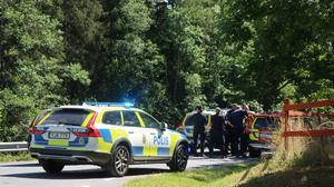 Polisen kom till platsen 14.38 för att söka efter den försvunna pojken.