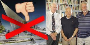 Gör om hela förslaget till resecentrum i Västerås, tycker tågveteranerna Leif Karlsson, Roland Sundgren (S) och Clas Lundberg som arbetat med ett eget förslag i tio år.