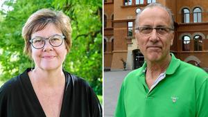 Kommundirektören Åsa Bellander och fastighetschefen Torbjörn Stark.