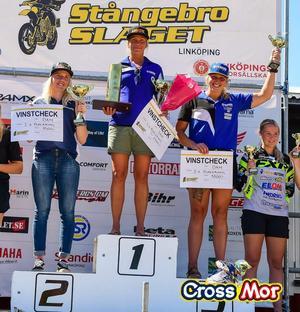 Emmily Smalsjö körde till sig en sensationell tredjeplats i Stångebro i sin endurocomeback under helgen. Foto: CrossMor