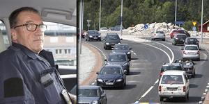 – Hastighetsanpassningen är upp till var och en. Skylten visar högsta tillåtna hastighet, sen är det upp till var och en att anpassa efter egen förmåga eller egen brådska, säger trafikpolis Claes Lundström.
