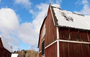 Taket på logen i Lögdö knäcktes.