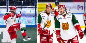 Oskar Svanlund fintade bort två motståndare plus målvakt och gjorde ett av Moras snyggaste mål för säsongen. Men till ingen nytta. Foto: Bildbyrån