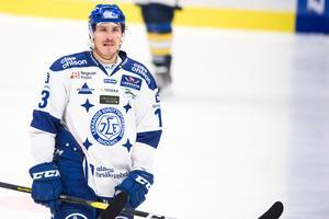 Leksands Jon Knuts fick se sitt lag lämna matchen utan något mål framåt borta mot Västervik. Foto: Dennis Ylikangas/Bildbyrån.