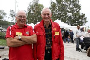 Lars Molin och marknadsgeneralen Hans Bäckström är stolta över att få vara en del av Hälsinge Marknad.