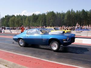 Anders Edh, Hudiksvall, SMK Söderhamn var snabbast i race klassen med sin Chevrolet Camaro -70