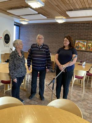 Från vänster Anna Berggren, Stellan Bäcklund och Cecilia Bergkvist på UH. Foto: Torbjörn Lindgren
