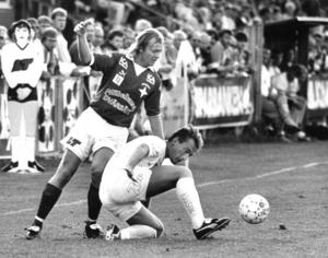 Kenth Persson under en derbymatch mot Ope 1990. Arkivbild: Christer Morberg