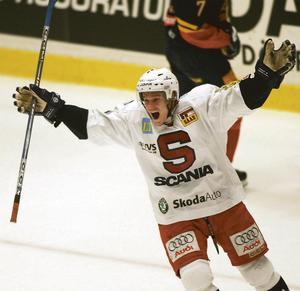 Juha Lind jublar efter att SSK besegrat Djurgården med 2-1 efter straffar.