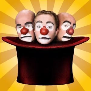 Clownerna i 123 Schtunk återkommer ofta på Gävle Teaters scen. Bild: Henri Kokko