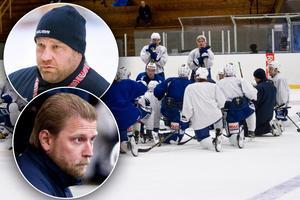 Tränarna Patrik Pettersson (övre bilden) och Daniel Eriksson (undre bilden) lämnar Köping Hockey.