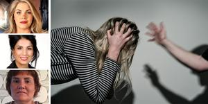 Sarah Havneraas, Soheil Fors och Erica Gidlöf (porträtten uppifrån och ned) skriver om det Kristdemokratiska kvinnoförbundets kamp för att få stopp på våldet mot kvinnor i nära relationer i Sverige.