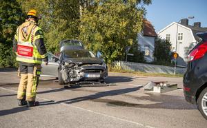 Trafiken fick ledas om på grund av bilolyckan under eftermiddagen