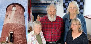 Berit Eldvik, Lennart Fransson, Camilla Forsberg och Maggi Stenström är fyra av de utställare som visar slöjd och hantverk i Arholma båk.