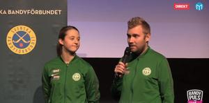 Malin Persson och Olle Wiberg.