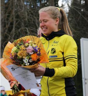 Tilda Östberg som under somrarna springer orientering för Stora Tuna SK har blivit uttagen till U20 EM i friidrott. Foto: Lars Gustafsson