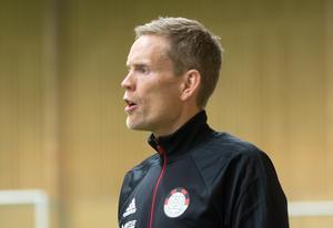 Mats Blom, tränare i Smedjebackens FK.