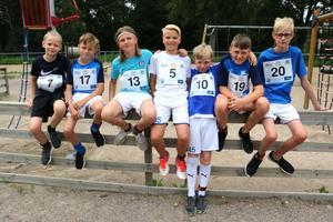 Fotbollsspelare i Mariebergs IK som gärna löper i terräng: Frank Backéus, Melvin Selin, Edvin Hellström, Alexander Näfver, Emil Öbrink, Tage König och Hugo Röckner.