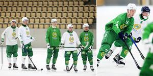 Hammarby tränade på stor is för första gången på torsdagen, i ABB Arena i Västerås.