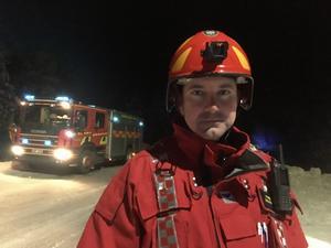 Arkivbild. Johan Wickenberg är inre befäl hos räddningstjänsten.  Bild från ett tidigare tillfälle.