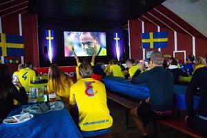 Det var långt ifrån fullsatt när Sverige segrade över Sydkorea under måndagseftermiddagen.