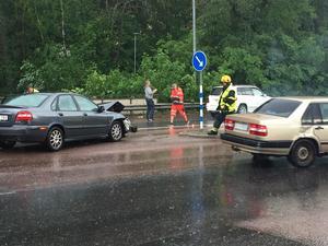 Trafikolycka på Mälarstrandsgatan.