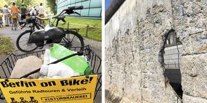 Cykel genom Berlin - förbi delar av muren.