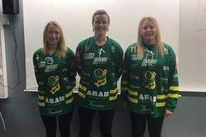 Emelie Timan, Johanna Pettersson och Linnea Gunnarsson missade förra säsongen på grund av graviditet. Nu är de tillbaka i truppen. Foto: Privat
