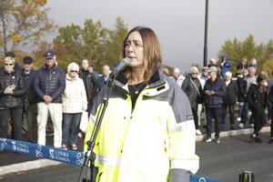Nya bron blir mycket mer trafiksäker för både oskyddade trafikanter och bilister, framhöll Birgitta Johnson från Trafikverket.