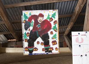 Hockeybilder. Ylva Ekman, Yxlan, har en svit ishockeybilder.