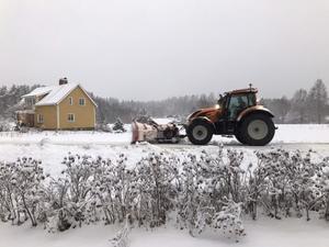 Snöröjning i Bengtsheden.