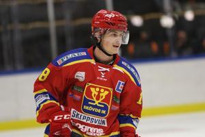 Jonas Nyman gjorde Skövdes 2–1-mål, men Forshaga kvitterade och vann på övertid.