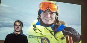 William Jonasson, marknadschef, vill visa upp känslan av att jobba och bo i Tänndalen. Annis Nyberg jobbar i skidpatrullen.