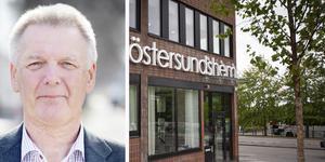 Bilden är ett montage: Christer Sundin och Östersundshems kontor