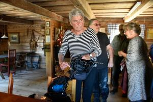 Maj Wechselmann under inspelningen av  filmen om Moa Martinson i Sorunda.